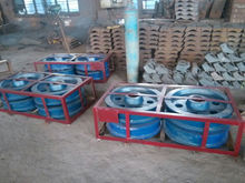 Hardness More Than HRC42 CrMo4 Stacker Travelling Wheel for Limestone Stacker