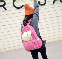 2015 new fashional preppy style literary female double strap bag