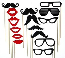 Classic moustache on a stick photo booth props for Wedding Party Accessory