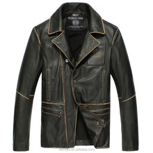 Cow Skin Embossed Men leather jackets