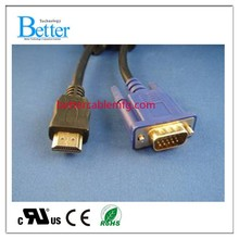 2015 Top Selling VGA to HDMI Cable Adapter Black
