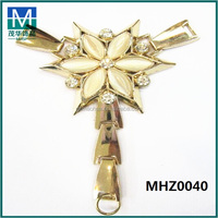 Mexicohot selling T style alloy rhinestone shoe buckle for ladies sandal MHZ0040