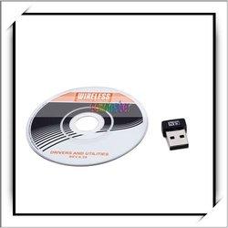 USB Mini Wireless Network Card Adapter Black