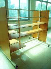 Wooden clothes modern display rack, garment shelf