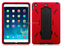For Apple iPad Mini Heavy Duty Hard & Silicon Cover Case with Foldable Stand Made In China