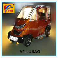 NEWEST closed cabin passenger energy four wheel electric tricycle