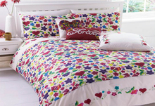 king size 3pcs European bed linen 100% cotton rotary printed quilt duvet cover