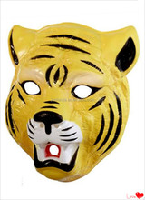 2015 wholesale plastic Tiger face mask for Halloween/Christmas party
