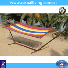 Caribbean cotton rope Hammock color Caribbean Hammock blue outdoor with stand