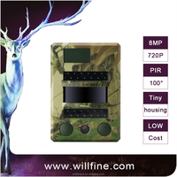 8MP 720P waterproof mini portable scouting trail camera with 940nm invisible IR LEDs