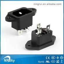 ul y vde iec 250v c14 de energía eléctrica socket receptáculo