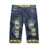 2015 fashionable men short jeans Denim Shorts Straight leg jeans