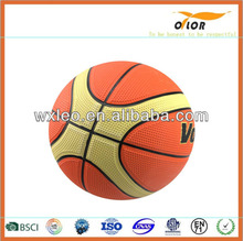 size 7 children playing promotional rubber basketball