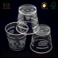 PS Mousse Cups Plastic Clear Jelly Fruit Cup