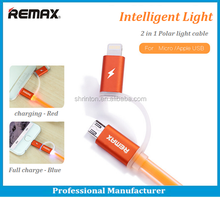 King kong series Remax 2 in 1 Light Speed Micro Usb Cable data cable for iPhone5/6 Samsung galaxy