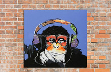 Hand Painted Wall Art Picture Oil Painting On Canvas High Quality Paintings Thinking Monkey Large Decoration For Living Room