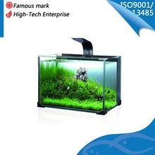 new design glass mini aquarium fish tank with led