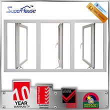 Australia standard heat insulation aluminium swing and hinged windows for commercial residential projects