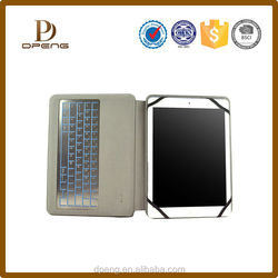 Wholesale custom leather azerty keyboard case for samsung galaxy s4
