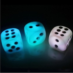 Happy New Year favors LED dice flashing light led dice