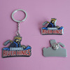 Printed Cornwall river kings metal hockey sports keychain and badges