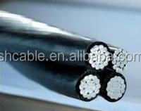 aluminum conductor XLPE insulated aerial bundle power cable ABC