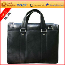 2012 winter stylish 100% cow leather personalized leather document bag