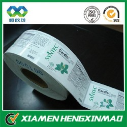 Cosmetic paper box side label for cosmetic bottle side label sticker for cosmetic packaging adhesive label