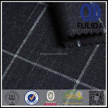 Superior big check desgin tr fabric with slub yarn --P5973