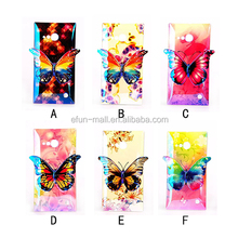 Wholesale 3D Colorful printed drawing butterfly TPU Case for Nokia N730