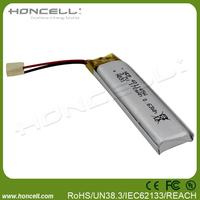 3.7v 170mah 401145 3.7v ultra thin lipo battery lipo