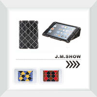 J.M.SHOW Lattice Smart Leather Case for iPad mini