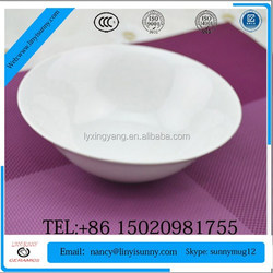 light color unique shape footed ceramic two tone soup bowl