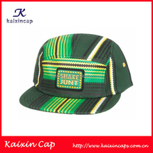 wholesale custom logo designed 100 cotton strip high quality 5 panel caps and hats