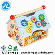 Wooden educational toys wooden doll house for kids
