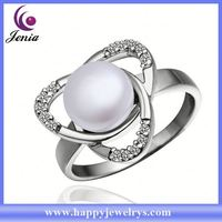 New coming products high quality gold plated pearl ring mountings PLR004