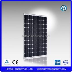 Good 100kw solar panel price with 400 units of 250w solar panel monocrystalline