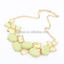 2014 high end popular yellow summer amorous necklace