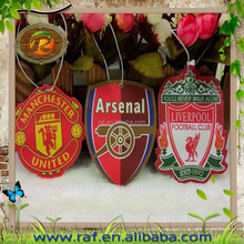 Famous football team hanging air fresheners for Household and commercial promotion