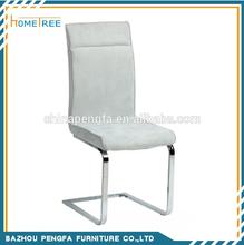 Modern Fabric Chromed Legs Dinning Chair