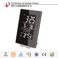 Hairong MD-8619 modern alarm and calendar colored desktop touch LCD clocks