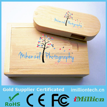 engaving printing wooden usb stick, custom logo wooden usb memory stick, 16gb wooden usb