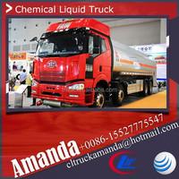 FAW liquid chemical tanker truck, pentane chemical liquid tanker truck, 30000 liters heavy duty chemical liquid tank truck