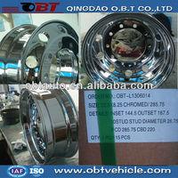 22.5inch Alloy rims chrome bbs replica wheels for truck trailer
