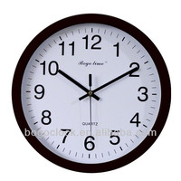 Personalized Custom Logo Wall Clock In Black Frame