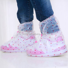 washable transparent pvc running kids shoes cover for rain
