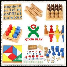 Maria montessori material didáctico para la escuela de párvulos/montessori conjunto para jardín de infantes( qx- 177b)