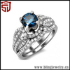 Fashionable New Arrival 925 Sterling Silver Jade Ring