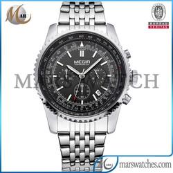 Luxury mens Chinese stainless steel quartz movement chian watch