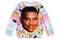 Custom Design Bright Colored Sweatershirt Human Print Hoodie Tops N9-81